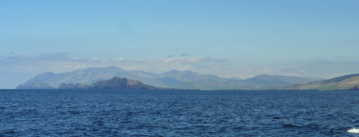 Dingle Peninsula from boat
