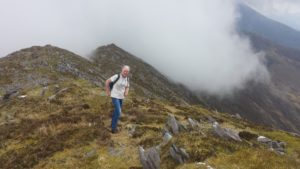Patrick at start of Reeks walk